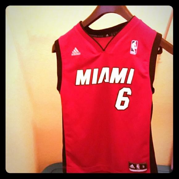 Adidas Shirts Miami Heat Lebron Jersey Poshmark